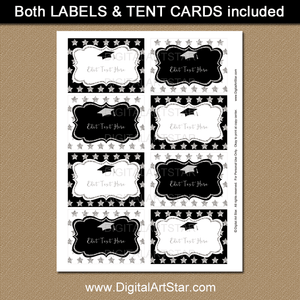 Printable Graduation Labels Editable Template