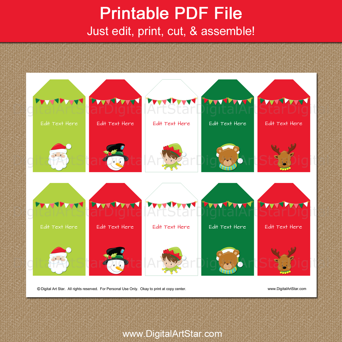 graphic regarding Printable Christmas Tags known as Adorable Xmas Tags for Children