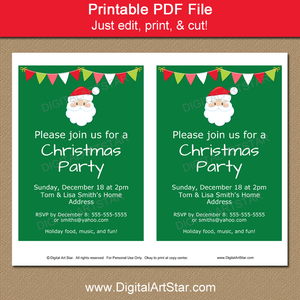 Printable Santa Invitation Template