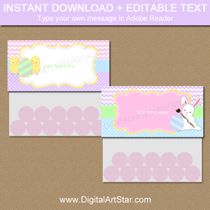 Editable Easter Candy Bag Topper Template