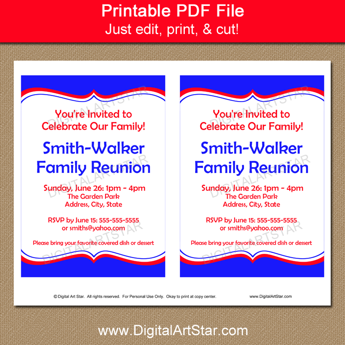 Family Reunion Invitation Template Download