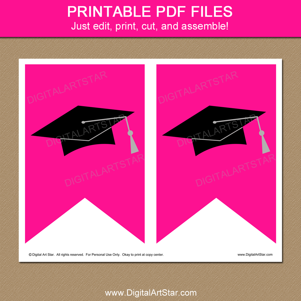 Girl Graduation Party Decorations - Printable Banner