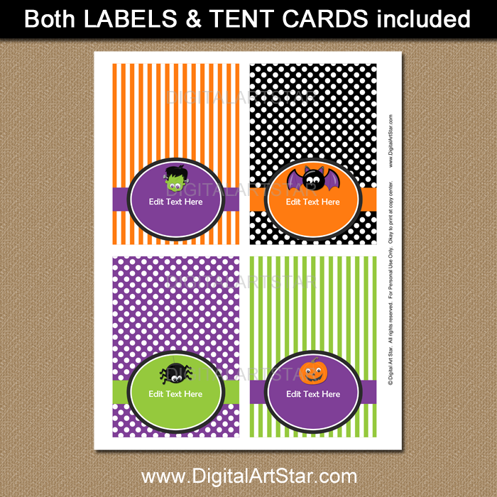 Halloween tent cards by Digital Art Star