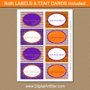 Glitter Halloween Label Printable