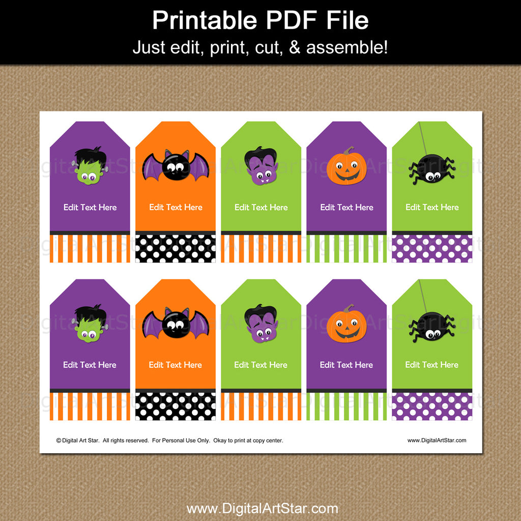Printable Halloween Thank You Tags for Kids