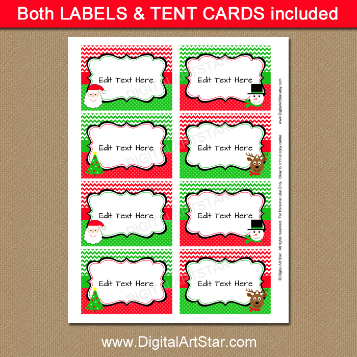 graphic about Christmas Labels Printable identify Small children Xmas Labels with Santa, Reindeer, Xmas Tree, Snowman
