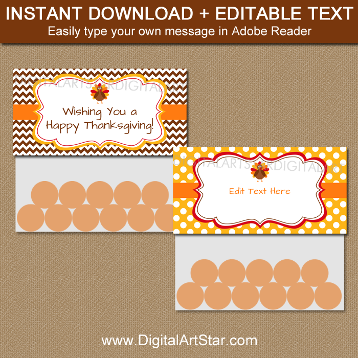 Printable Thanksgiving Bag Toppers