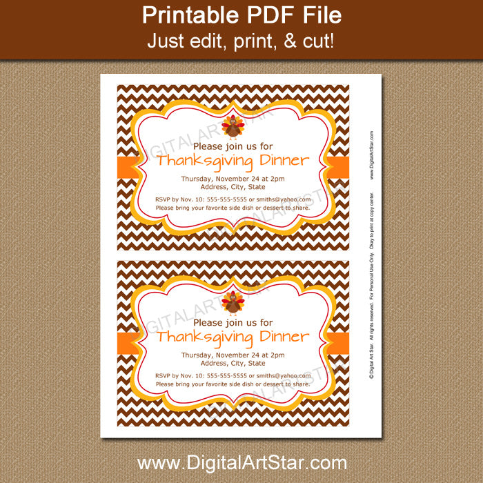 Printable Thanksgiving Idea