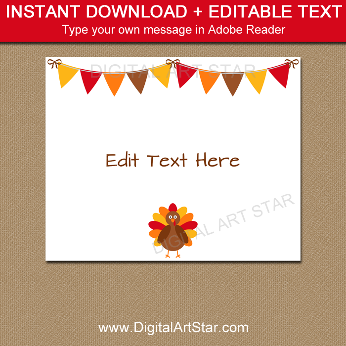 Thanksgiving Sign Download by Digital Art Star