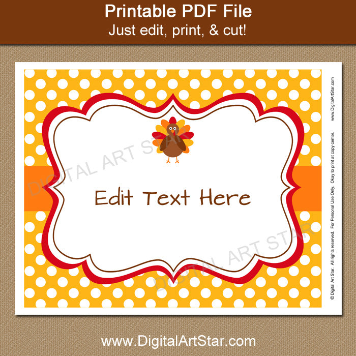 photograph regarding Closed for Thanksgiving Sign Printable called Printable Thanksgiving Signal Template - Yellow with White Dots - 8x10