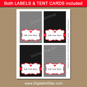 Printable Valentine Tent Cards