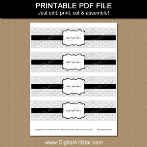 Water Bottle Label Printable PDF