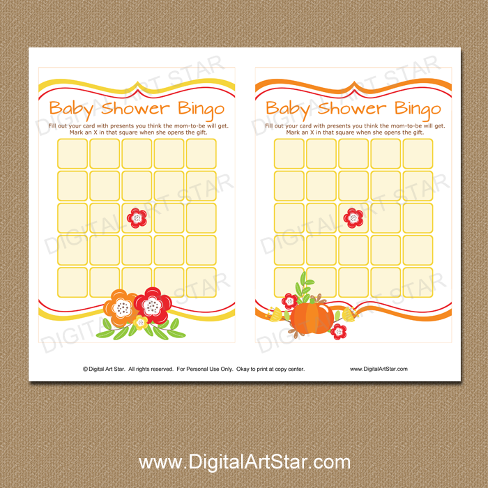 graphic relating to Baby Shower Bingo Cards Printable known as Slide Little one Shower Bingo Printable Activity