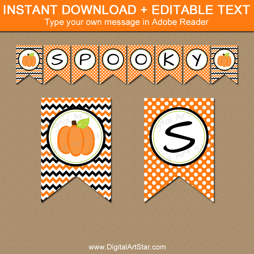 image relating to Printable Halloween Banners titled Printable Halloween Banners with Editable Terms Electronic Artwork