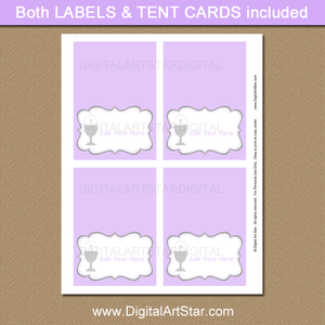 Purple First Communion Place Cards Printables