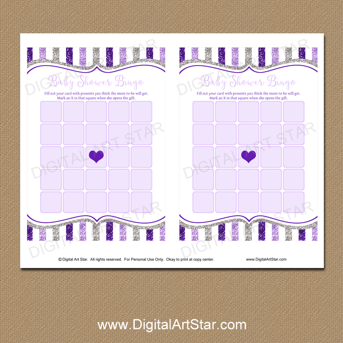 photo about Baby Bingo Printable referred to as Red and Silver Kid Shower Bingo Printable