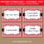 Red and Black Baby Shower Labels