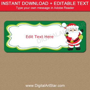Santa return address labels