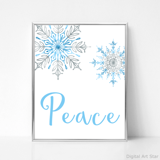 Snowflake Wall Decor Printable Winter Art