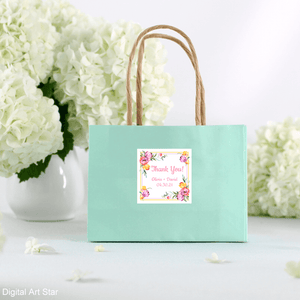 Spring Wedding Printable Favor Stickers Tulips