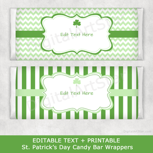 Editable St Patrick's Day Candy Bar Wrapper Printable