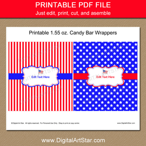 Printable 4th of July Party Favor Idea