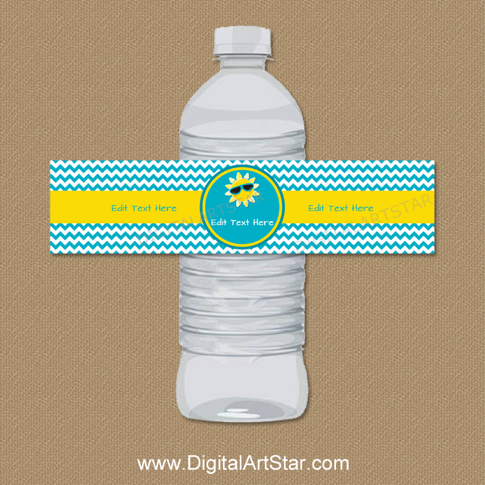 Retirement Party Water Bottle Labels