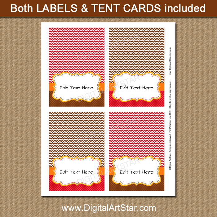 printable fall place cards