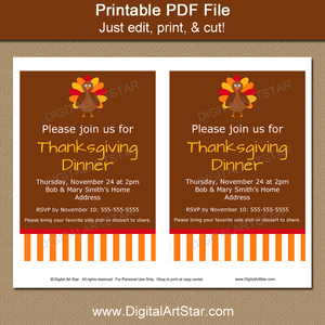 Thanksgiving Invitation Editable