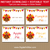 Thanksgiving Food Signs with Editable Text