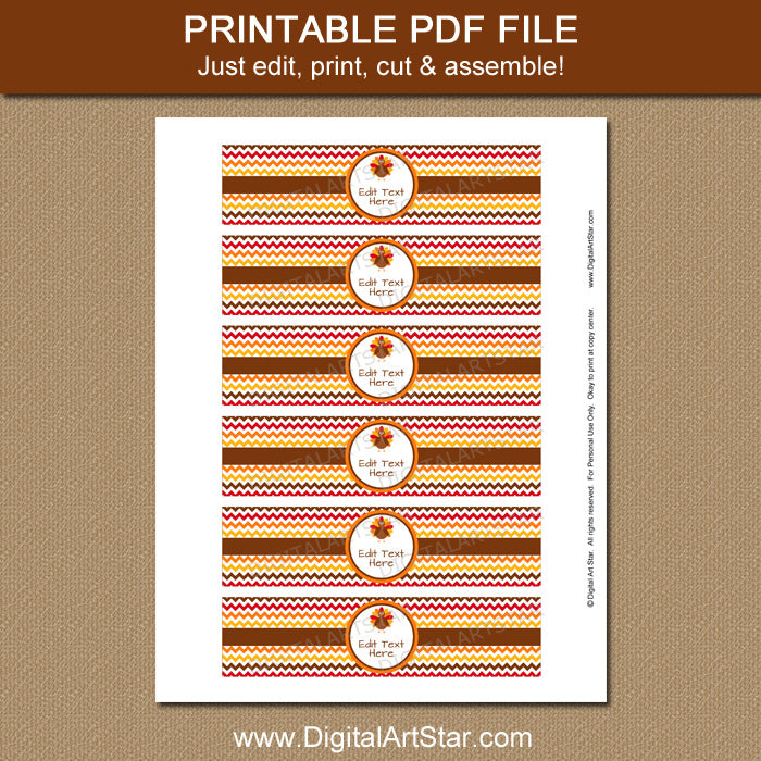 image about Printable Napkin Rings Template named Printable Thanksgiving Napkin Rings Template: 5. Countdown