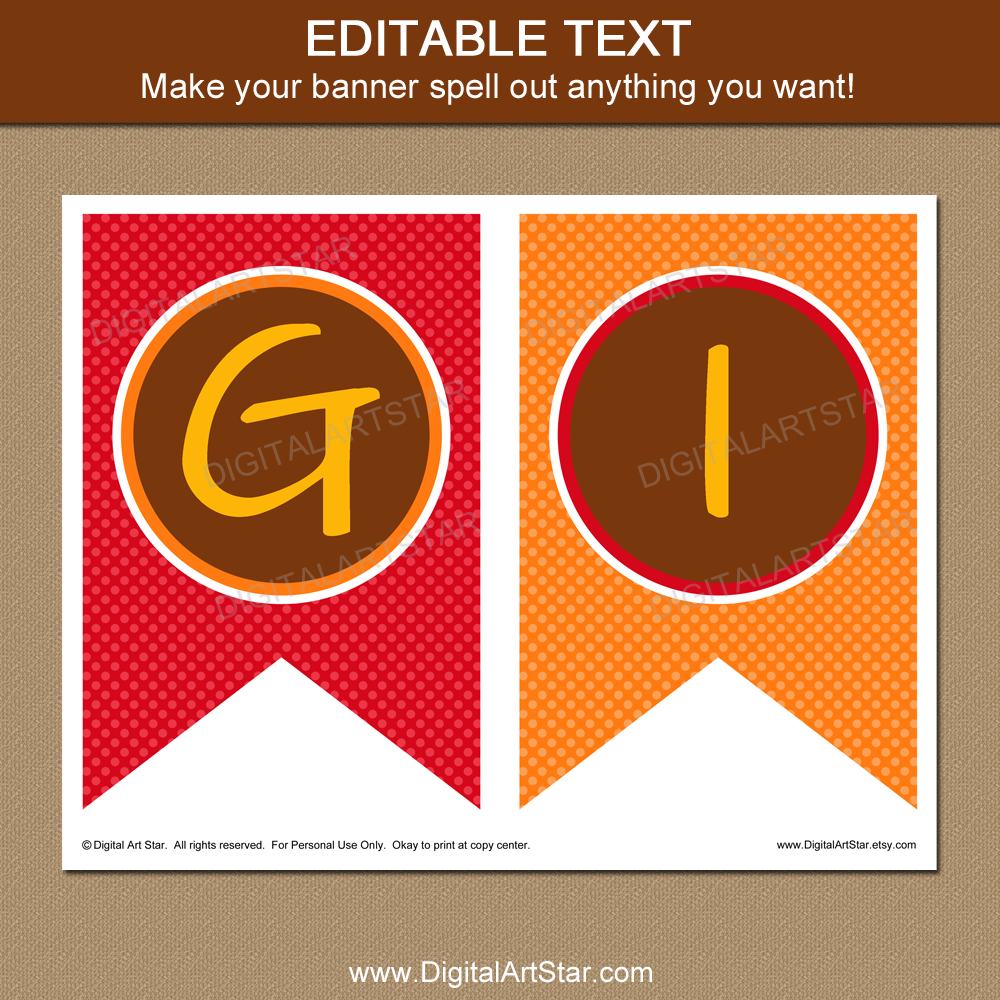 graphic about Printable Thanksgiving Banner called Printable Thanksgiving Decorations - Thanksgiving Banner Template