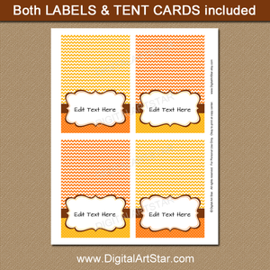 Fall Candy Buffet Labels Instant Download