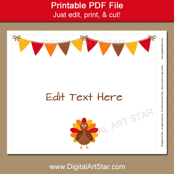 Thanksgiving Sign Download - Printable Sign - 8x10
