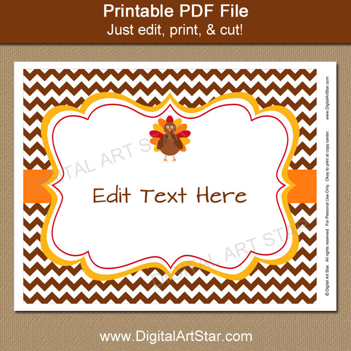 graphic about Closed for Thanksgiving Sign Printable named Thanksgiving Doorway Indication Template - 8x10 Brown Chevron Indicator