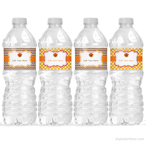 Turkey Water Bottle Labels Thanksgiving Decorations