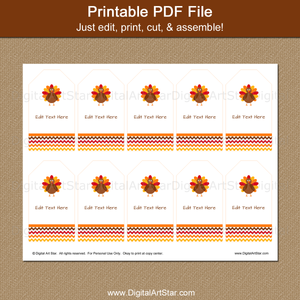 Printable Turkey Tags by Digital Art Star