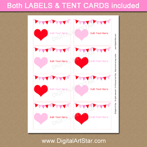 Valentine's Day Food Label Template