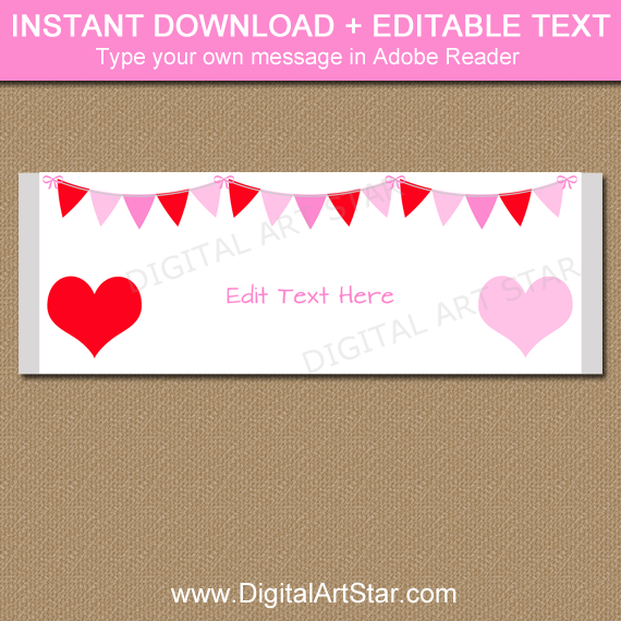 Valentine Candy Bar Wrappers to Print