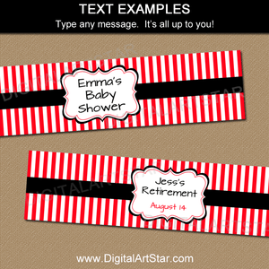 Editable Water Bottle Labels for Baby Shower and Birthday Party