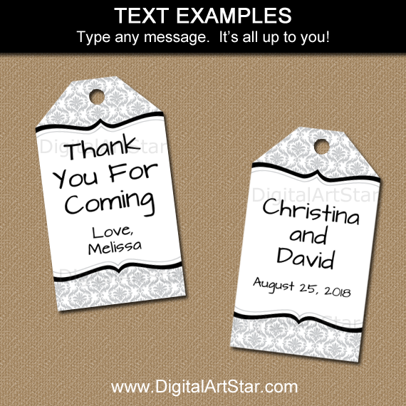 Printable Tags for Adult Birthday, Silver Anniversary, Wedding, and More