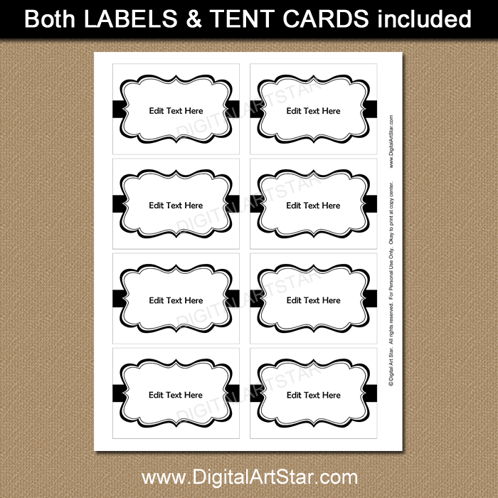 White and Black Label Template