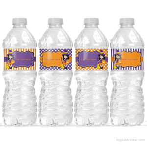 Witch Water Bottle Labels for Halloween Party Decorations