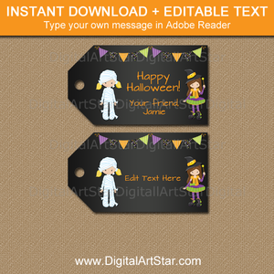 printable halloween tags for girls