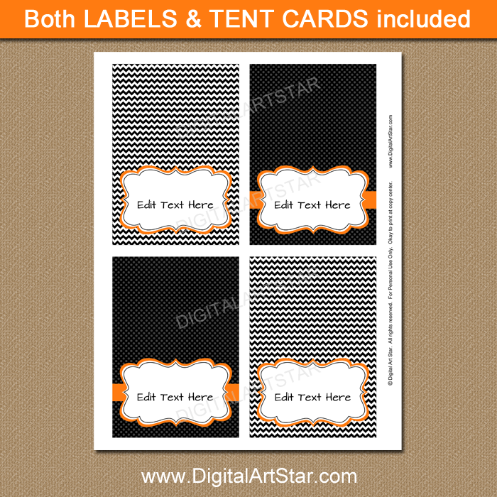 instant download halloween candy buffet labels