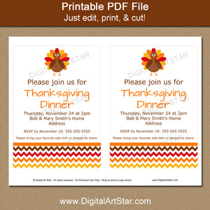 Instant Download Thanksgiving Template