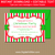 Xmas Invitations with Red White Green Stripes