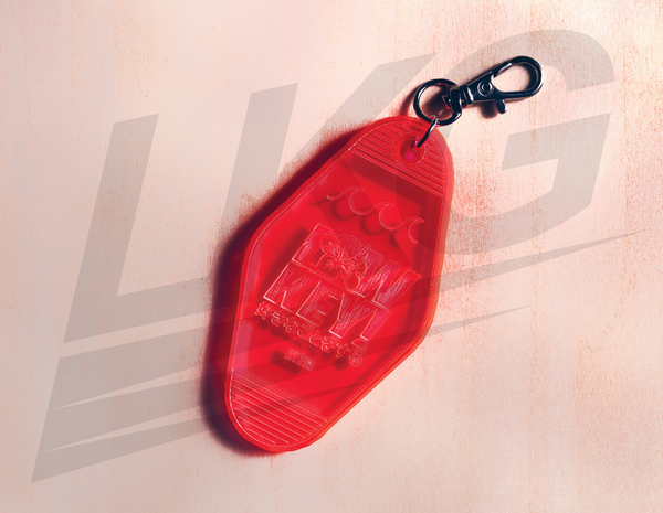 "LOWKEY! ""RETRO VIBES"" KEYCHAIN - INFRARED"