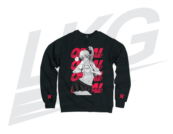 ***ONLY 3 DAYS TO PRE-ORDER!*** ~ LOWKEY! OPPAI HEARTS CREWNECK SWEATER