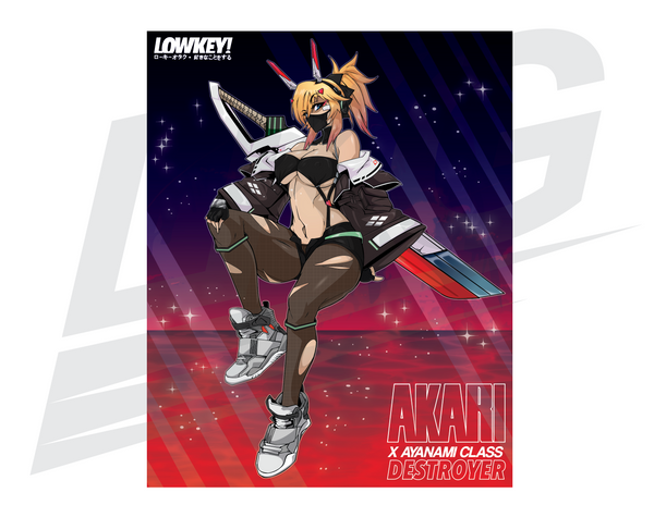 LIMITED EDITION POSTER  - LOWKEY! AKARI X AYANAMI DESTROYER POSTER